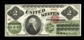 """Large Size:Legal Tender Notes, Fr. 41 $2 1862 Legal Tender Choice About New. From our 2006 FUN auction where it was described as, """"A very light center fold..."""