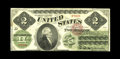 Fr. 41 $2 1862 Legal Tender Fine. The design elements are especially strong given the amount of time this note saw in th...