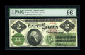 Large Size:Legal Tender Notes, Fr. 41a $2 1862 Legal Tender PMG Gem Uncirculated 66 EPQ. Thissolidly margined Deuce boasts all the attributes needed to ac...