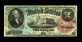 Fr. 42 $2 1869 Legal Tender Fine-Very Fine. This Deuce is in the family of Rainbows, so-called because of the extensive...