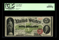 Large Size:Legal Tender Notes, Fr. 63 $5 1863 Legal Tender PCGS Gem New 65PPQ. According to ourrecords, the last Gem quality example of this issue to appe...