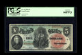 Large Size:Legal Tender Notes, Fr. 64 $5 1869 Legal Tender PCGS Gem New 66PPQ. A bright and nicelycentered Rainbow Five that unquestionably deserves every...