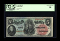 Fr. 64 $5 1869 Legal Tender PCGS Choice About New 58. A bit of handling is noted at the usual corner and may well explai...