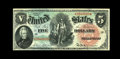 Fr. 64 $5 1869 Legal Tender About New. This Rainbow Woodchopper would easily command a Choice Uncirculated grade were it...
