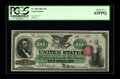 Large Size:Legal Tender Notes, Fr. 95b $10 1863 Legal Tender PCGS Choice New 63PPQ. Margin splitsand sallow color usually plague this early type. This fla...