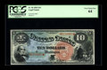 Large Size:Legal Tender Notes, Fr. 96 $10 1869 Legal Tender PCGS Very Choice New 64. The marginsare a hair narrow, which likely accounted for the just-bel...