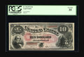 Large Size:Legal Tender Notes, Fr. 98 $10 1875 Legal Tender PCGS Very Fine 35. This solid high-endVF is well in the top half of the census for the less th...