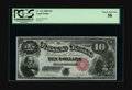 Large Size:Legal Tender Notes, Fr. 112 $10 1880 Legal Tender PCGS Choice About New 58. Purchaseddecades ago by our consignor for under $200. It's a gorgeo...