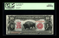 "Large Size:Legal Tender Notes, Fr. 114 $10 1901 Legal Tender PCGS Gem New 65PPQ. From our FUN 2005 sale where this note was described as, ""A beautiful Biso..."