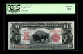 Large Size:Legal Tender Notes, Fr. 114 $10 1901 Legal Tender PCGS Choice New 63. An attractive Bison which is perfect for the collector who desires a certi...