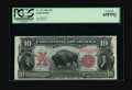 Large Size:Legal Tender Notes, Fr. 117 $10 1901 Legal Tender PCGS Gem New 65PPQ. A lovely Bisonwith deep original embossing that is plainly evident throug...