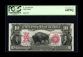 Large Size:Legal Tender Notes, Fr. 119 $10 1901 Legal Tender PCGS Very Choice New 64PPQ. Themargins on this issue, especially the face, frame the design v...