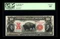 Large Size:Legal Tender Notes, Fr. 120 $10 1901 Legal Tender PCGS Choice New 63. Lots of fresh,original color is the first thing to be noticed on this eye...