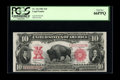 Large Size:Legal Tender Notes, Fr. 122 $10 1901 Legal Tender PCGS Gem New 66PPQ. A lovely high-endBison with deep original embossing that is plainly evide...