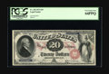 Large Size:Legal Tender Notes, Fr. 128 $20 1875 Legal Tender PCGS Very Choice New 64PPQ. Fr. 128is far scarcer than the 1878 Fr. 129 with which it is ofte...