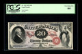 Large Size:Legal Tender Notes, Fr. 129 $20 1878 Legal Tender PCGS Very Choice New 64. A muchbolder overprint than we are use to seeing adorns this 1878 $2...