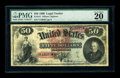 Large Size:Legal Tender Notes, Fr. 151 $50 1869 Legal Tender PMG Very Fine 20 EPQ. Over 15 percentof the population for this Friedberg number is tied up b...
