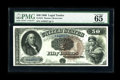 Large Size:Legal Tender Notes, Fr. 161 $50 1880 Legal Tender PMG Gem Uncirculated 65. This classicdesign, with its large brown seal, blue serial numbers, ...