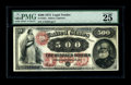Large Size:Legal Tender Notes, Fr. 185a $500 1874 Legal Tender PMG Very Fine 25. This note wasintroduced to the numismatic community when it appeared in o...