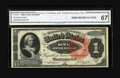 Large Size:Silver Certificates, Fr. 218 $1 1886 Silver Certificate CGA Gem Uncirculated 67. This is a beautifully bright example of a large Red Seal Martha ...