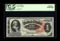 Large Size:Silver Certificates, Fr. 218 $1 1886 Silver Certificate PCGS Choice New 63PPQ. The margins and front to back centering are clearly Gem. The margi...