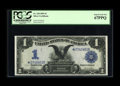 Large Size:Silver Certificates, Fr. 230 $1 1899 Silver Certificate Star Note PCGS Superb Gem New67PPQ. This embossed, totally original Black Eagle Star wit...