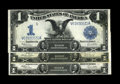 Fr. 233, Fr. 236 $1 1899 Silver Certificates Three Examples. This trio of lightly circulated Black Eagles all grade Very...