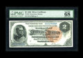 Large Size:Silver Certificates, Fr. 243 $2 1886 Silver Certificate PMG Superb Gem Unc 68 EPQ. TheFr. 243 is right behind the Fr. 241 as the scarcest of the...