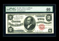 Large Size:Silver Certificates, Fr. 245 $2 1891 Silver Certificate PMG Extremely Fine 40. A gorgeous lightly circulated Windom, with super color, broad marg...