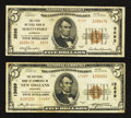 National Bank Notes:Louisiana, New Orleans, LA - $5 1929 Ty. 2 The NB of Commerce Ch. # 13689;. Shreveport, LA - $5 1929 Ty. 2 The FNB Ch. # 35... (Total: 2 notes)