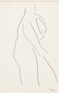 Post-War & Contemporary:Contemporary, FROM THE ESTATE OF DR. EDMUND P. PILLSBURY. ROBERT MOTHERWELL (American, 1915-1991). Untitled, 1957. Ink on paper. 10-...