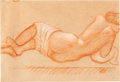Impressionism & Modernism:post-Impressionism, FROM THE ESTATE OF DR. EDMUND P. PILLSBURY. ARISTIDE MAILLOL(French, 1861-1944). Untitled, 1930. Sanguine on paper. 8...