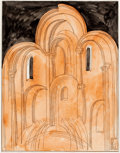Post-War & Contemporary:Contemporary, FROM THE ESTATE OF DR. EDMUND P. PILLSBURY. KONSTANTIN KIRILLOVICHIVANOV (Russian, b. 1938). Building of the Church, ...