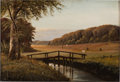 Fine Art - Painting, European:Modern  (1900 1949)  , Attributed to CARL NIELSEN (Swedish, 1888-1960). Landscape.Oil on canvas. 9-1/4 x 13-1/2 inches (23.5 x 34.3 cm). Signe...