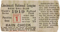 Baseball Collectibles:Tickets, 1919 World Series Game One Ticket Stub....