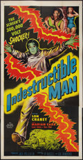 """Movie Posters:Horror, Indestructible Man (Allied Artists, 1956). Three Sheet (41"""" X 81""""). Horror.. ..."""