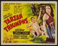 "Movie Posters:Adventure, Tarzan Triumphs (RKO, 1943). Title Lobby Card (11"" X 14"").Adventure.. ..."