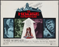 "The House That Dripped Blood (Cinerama Releasing, 1971). Half Sheet (22"" X 28""). Horror"