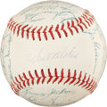Baseball Collectibles:Balls, 1957 Brooklyn Dodgers Team Signed Baseball (24 Signatures). ...