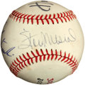 Baseball Collectibles:Balls, 3000 Hits/ 3000 Games Multi Signed Baseball....