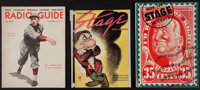 "The Stage Magazine Lot (Various, 1937-1938). Magazines (3) (9.75"" X 12.75"", 10"" X 14"", & 10..."