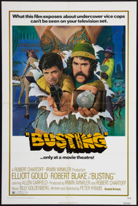 "Busting and Others Lot (United Artists, 1974). One Sheets (4) (27"" X 41""), and Lobby Cards (7) (11"" X 14&..."