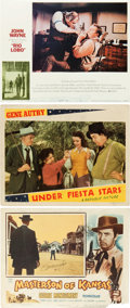 Memorabilia:Poster, Movie Westerns Lobby Card Poster Group (1946-71).... (Total: 39Items)