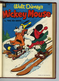 Golden Age (1938-1955):Funny Animal, Mickey Mouse #28-81 Bound Volumes (Dell, 1953-62).... (Total: 9Items)