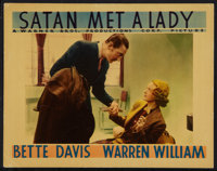 "Satan Met a Lady (Warner Brothers, 1936). Lobby Card (11"" X 14""). Mystery"