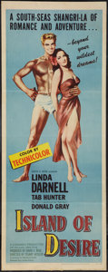 """Movie Posters, Island of Desire (United Artists, 1952). Insert (14"""" X 36"""").. ..."""