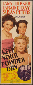 "Movie Posters:War, Keep Your Powder Dry (MGM, 1945). Insert (14"" X 36""). War.. ..."