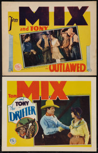"Outlawed and Other Lot (FBO, 1929). Lobby Cards (2) (11"" X 14""). Western. ... (Total: 2 Items)"