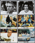 "Movie Posters:Sports, Slap Shot (Universal, 1977). Mini Lobby Card Set of 4 and Photos (2) (8"" X 10""). Sports.. ... (Total: 6 Items)"