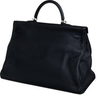 ca9ca905dbad ... inexpensive luxury accessoriestravel trunks hermes 50cm black fjord  leather travel kelly bag with c62ba 1cf4e ...
